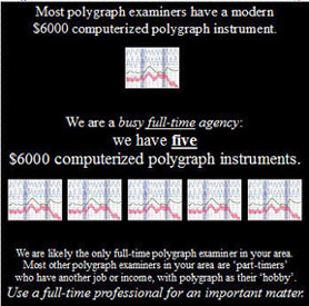 infidelity polygraph testing California